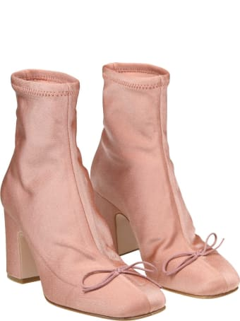 RED Valentino Ankle Boot In Stretch Fabric Color Pink