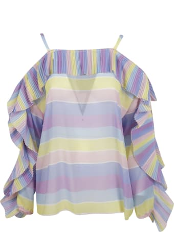 Blugirl Striped Print Blouse