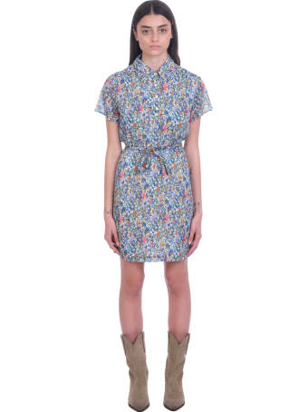 A.P.C. Prudence Dress In Multicolor Cotton