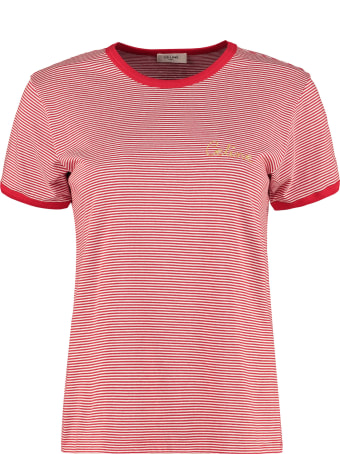 Celine Striped Crewneck T-shirt