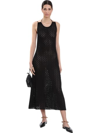Jil Sander Dress In Black Cotton