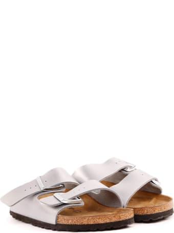 Birkenstock Silver Birkoflor Sandals