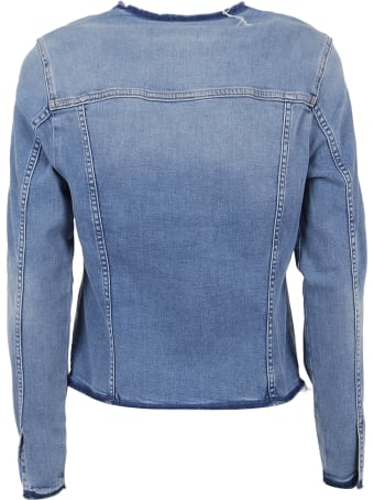 7 For All Mankind Denim Jacket Slim Illusion Departed