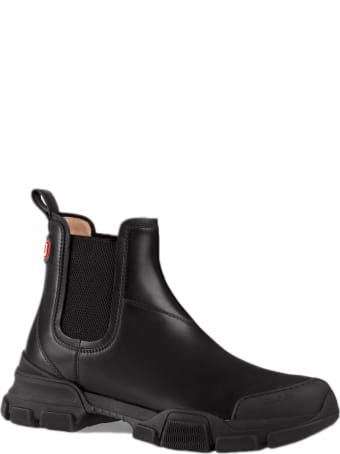 Gucci Black Leather Ankle Boot
