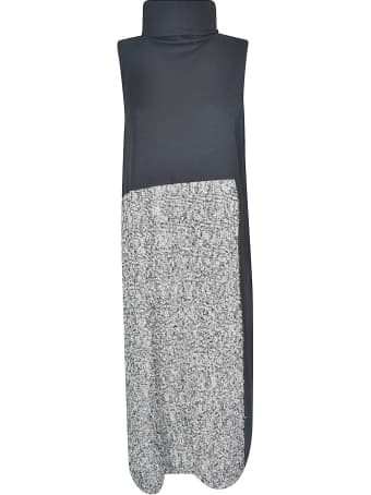 Y's High-neck Sleeveless Long Dress