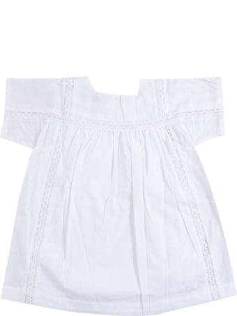 Lili Gaufrette Little Girl Dress With Embroidery