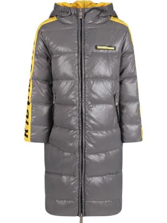Richmond Grey And Yellow Boy Jacket With Black Logo