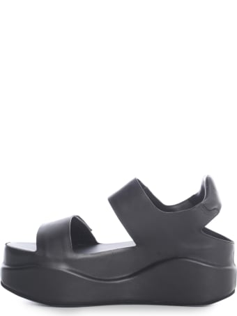 Del Carlo High Sandals W/wedge And 2 Laces
