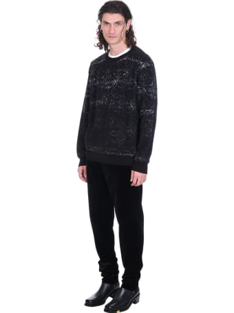 Rochas Knitwear In Black Wool