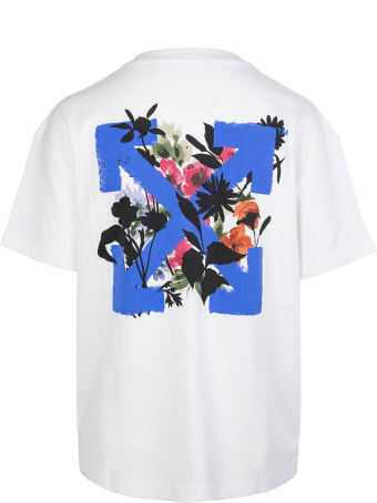 Off-White Woman Flower Arrow White T-shirt