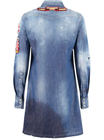 Dsquared2 Denim Embellished Dress