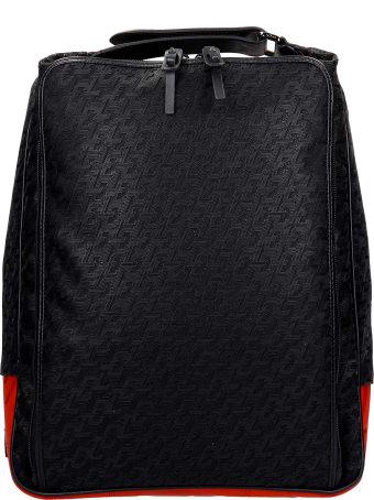 Christian Louboutin Hop N Zip Backpack In Black Synthetic Fibers