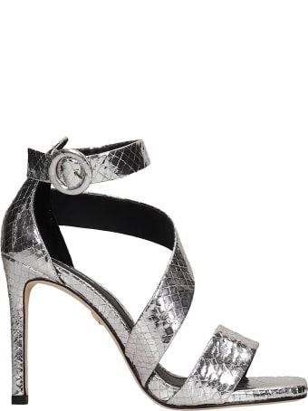 Lola Cruz Sandals In Silver Leather