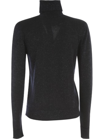 Nuur Vanise` Lurex High Neck Wool Sweater
