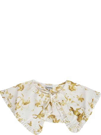 Ganni Printed Cotton Collar