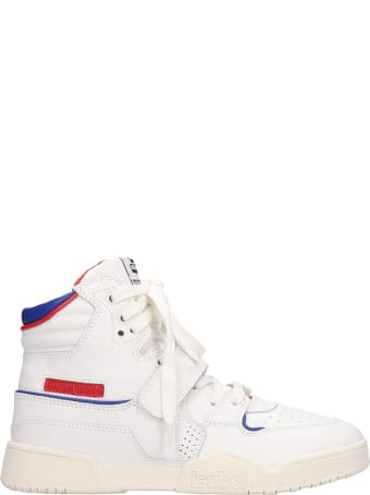 Isabel Marant Alsee Sneakers In White Leather