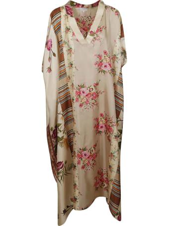 Pierre-Louis Mascia V-neck Floral Print Oversized Dress