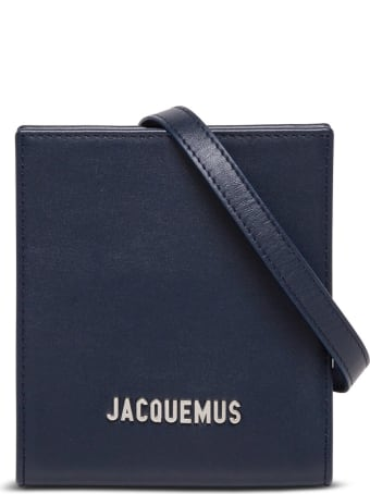 Jacquemus Le Gadjo Crossobdy Bag In Blue Leather