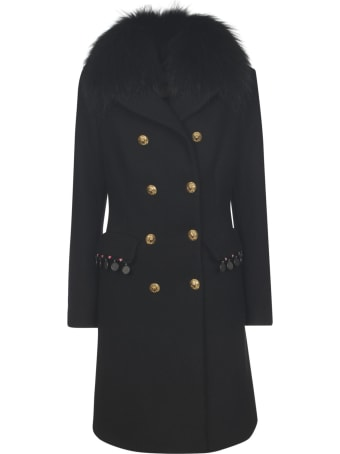 Bazar Deluxe Fur Double Breasted Coat
