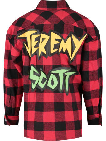 Jeremy Scott Black And Red Shirt For Boy With Colorful Logo