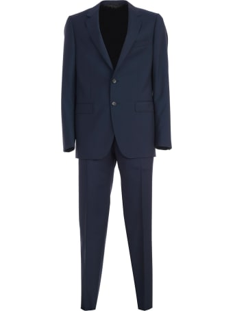 Lanvin Natural Stretch Canvas Suit