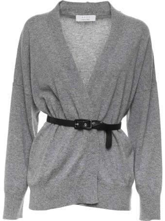 Kaos Kaos Grey Belted Cardigan