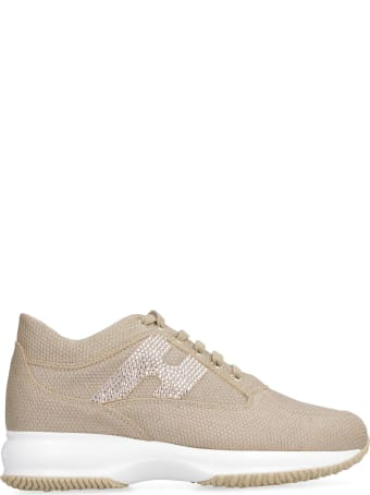 Hogan Interactive Metallic Leather Sneakers