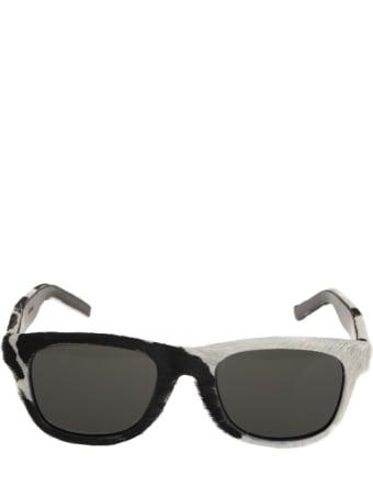 Saint Laurent Classic Sl 51 Sunglasses In Calf Hair