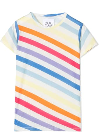 Douuod T-shirt With Color-block Design