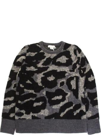 Stella McCartney Grey Wool Blend Camouflage Sweater