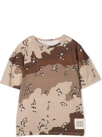Douuod Camouflage Print T-shirt