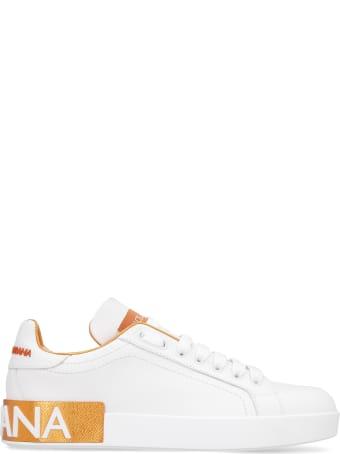 Dolce & Gabbana Portofino Leather Low-top Sneakers