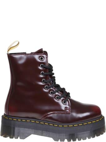 Dr. Martens Dr.martens Jadon Boots In Cherry Color Shiny Leather