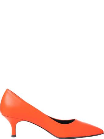 Luca Valentini Orange Fiona Pumps