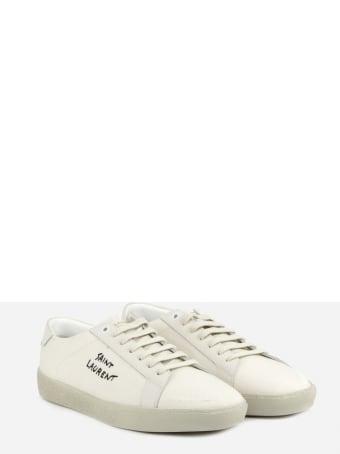 Saint Laurent Court Classic Sl / 06 Sneakers In Cotton