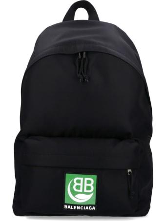 Balenciaga Explorer Backpack Green Logo