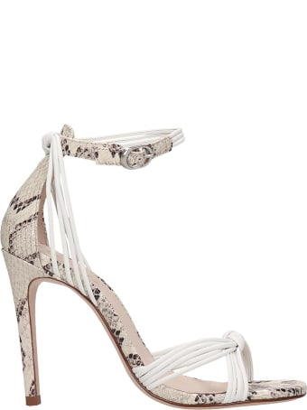 Schutz Sandals In White Leather
