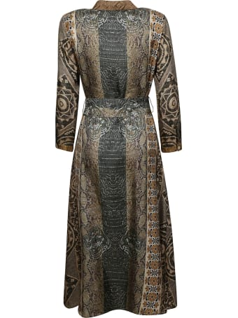 Pierre-Louis Mascia All-over Print Belted Shirt Dress