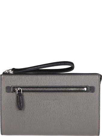 Salvatore Ferragamo Grey Leather Pouch