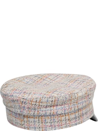 Ruslan Baginskiy Tweed Multicolor Baker Hat