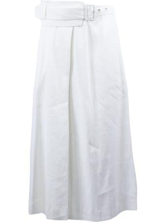 Fabiana Filippi White Linen Blend Skirt