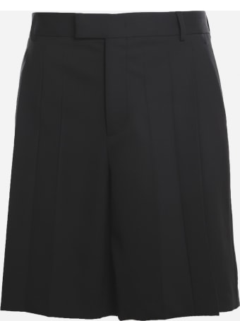 Valentino Shorts Made Of Technical Wool With Pleats