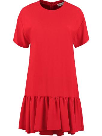 RED Valentino Ruffled Crepe Mini Dress