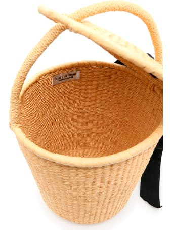 Sensi Studio Wicker Bucket Bag With Bow