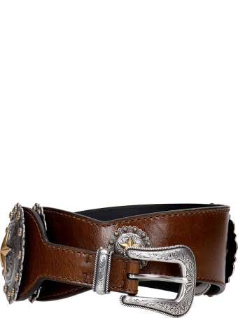 Kate Cate Belts In Brown Leather
