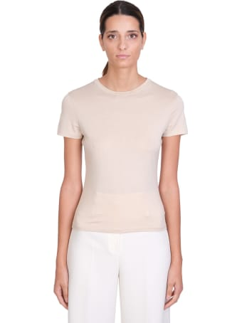 Theory T-shirt In Beige Cotton