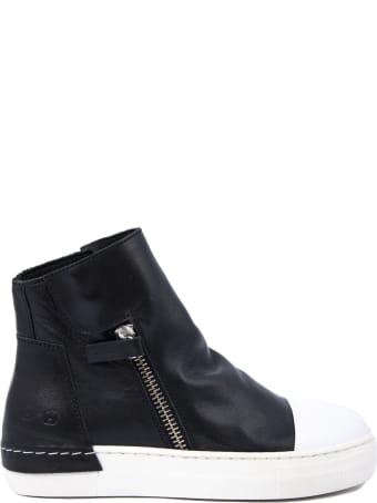 Cinzia Araia High-top Sneaker In Black Leather