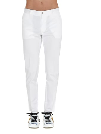 Dolce & Gabbana Stretch Trousers With Patch