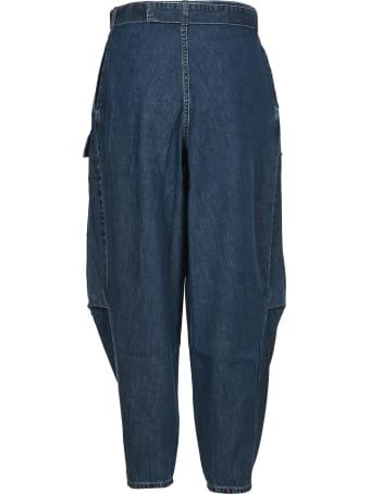 Stella McCartney Stella Mccartney Oversized High Waist Denim Pants