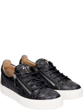 Giuseppe Zanotti Frankie Sneakers In Black Leather